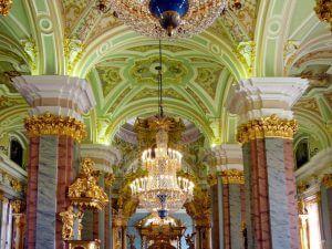 فضای داخلی قلعه ی پیتر و پاول