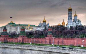 نمای بیرونی کاخ کرملین در مسکو